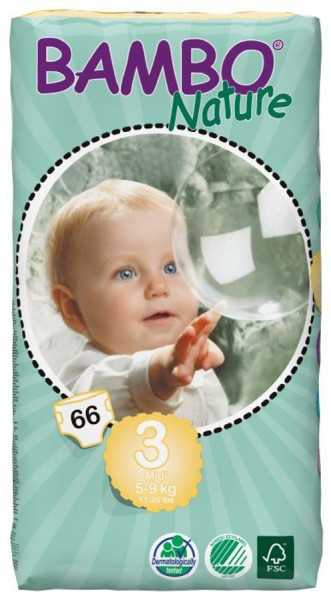 Pack of 3 Beaming Baby Bio-Degradable Junior Nappies 31/'s Pieces